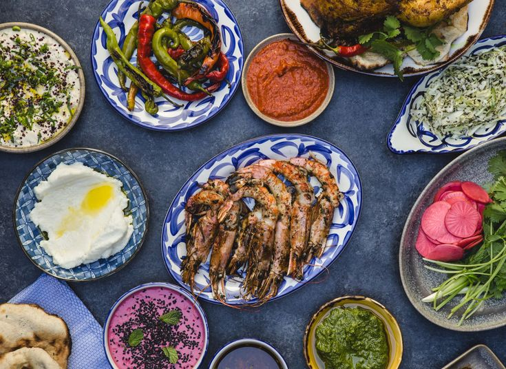 Maydan Washington DC, District of Columbia Food + Drink food plate bowl different cuisine many vegetable vegetarian food meze Seafood lunch asian food recipe appetizer leaf vegetable items side dish middle eastern food various set containing meat plastic
