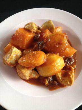 Tajine poulet, potiron et pomme de terre
