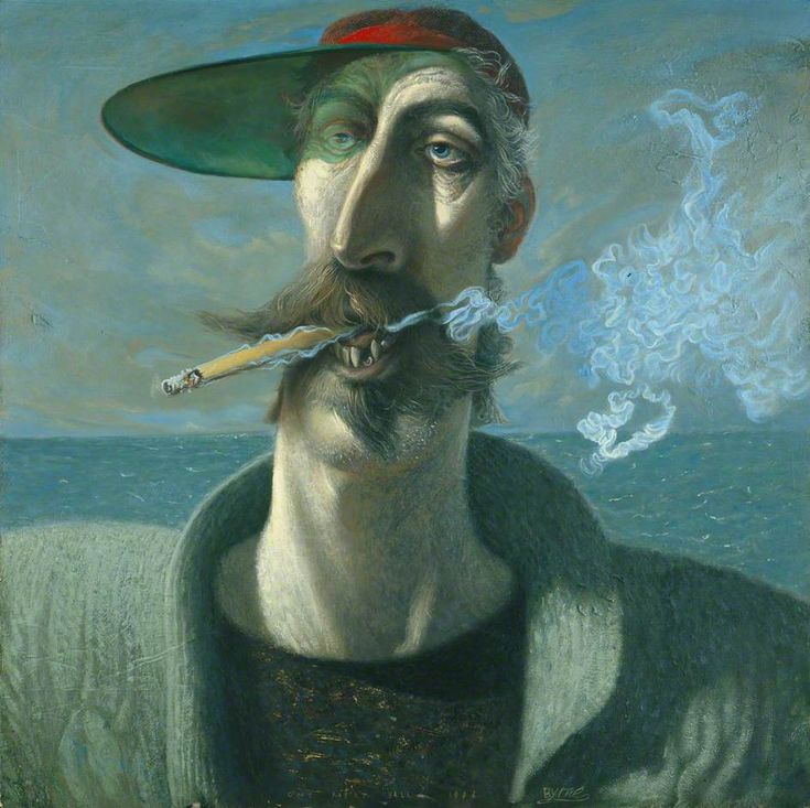 Self Portrait by John Byrne (Scottish b.1940)