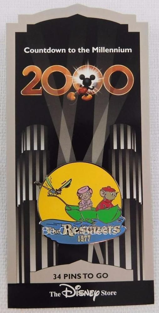 Disney Store Countdown to the Millennium Pin #35 The Rescuers 1977 New