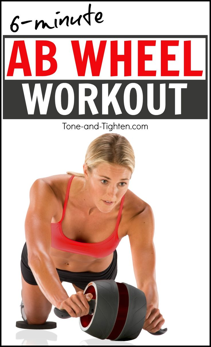 Killer at-home core / abs workout with just one piece of equipment! The Ab Wheel workout from Tone-and-Tighten.com