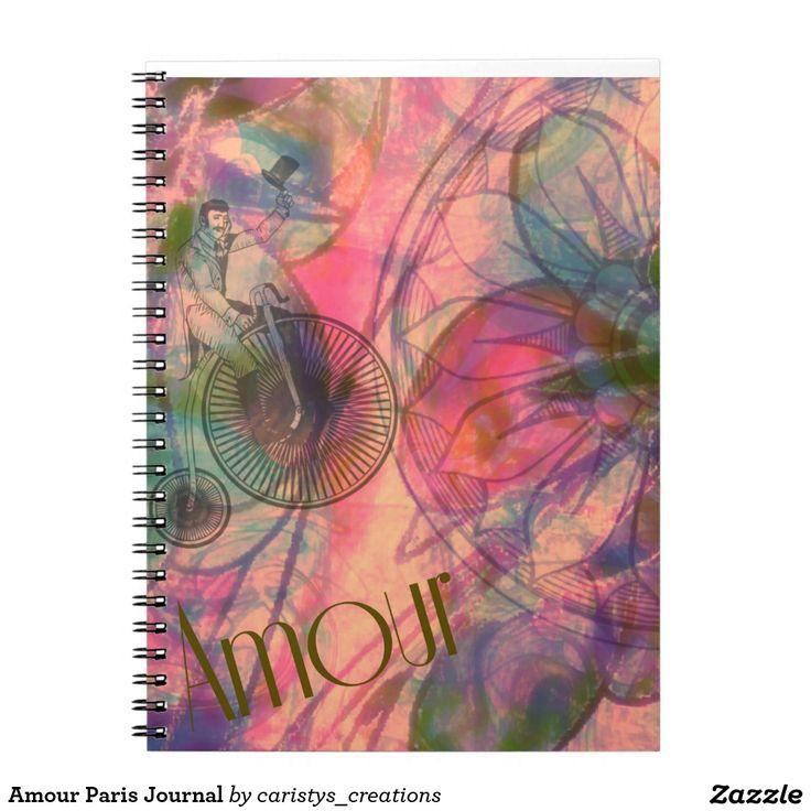 Amour Paris Journal Spiral Notebooks