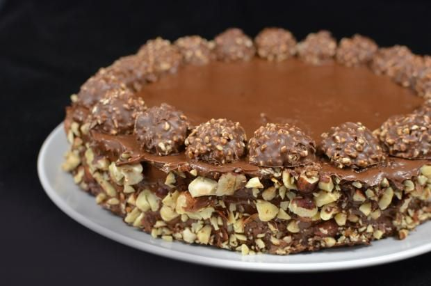 """Ferrero Rocher Cake for mum """"Ferrero lover"""" :oD"""