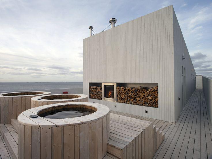 Fogo Island Inn, Canada Rooftop hot tubs and sauna