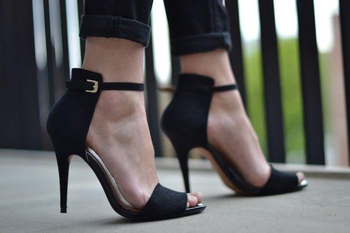 zara basic strappy heels black | My Style Pinboard | Pinterest ...