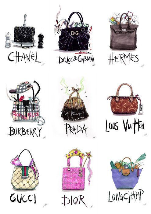 bags illustration. love this.