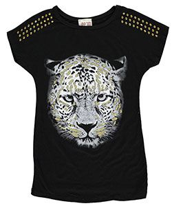 "Dream Girl Big Girls' ""Regal Feline"" Top (Sizes 7 – 16) - CookiesKids.com"
