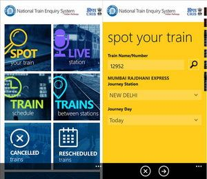 National Train Enquiry System App launched for Windows Phone, coming to other OS soon