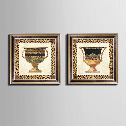 Natureza Morta Quadros Emoldurados Conjunto Emoldurado Arte de Parede,PVC Material Marrom Sem Cartolina de Passepartout com frame For de 2017 por R$179.74