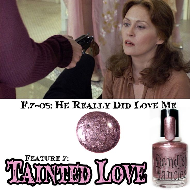 F.7-05: He Really Did Love Me  Dusky Wisteria Mauve Shimmer inspired by the high fashion and compulsive obsession. Opaque in 1-2 coats. : The Tainted Love Collection ~ Inspired by movies about obsession and love gone wrong. Coming February 2016
