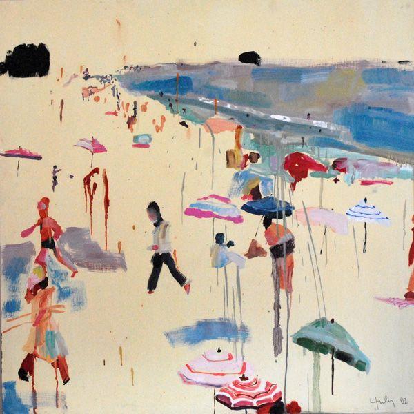 abstract beach scene caroline zucchero hurley