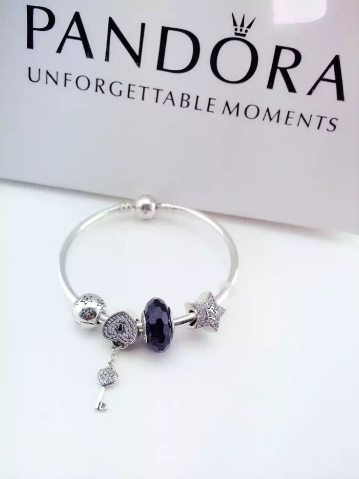 pandora bracelet design ideas pandora bracelet design navy sparkle key - Pandora Bracelet Design Ideas