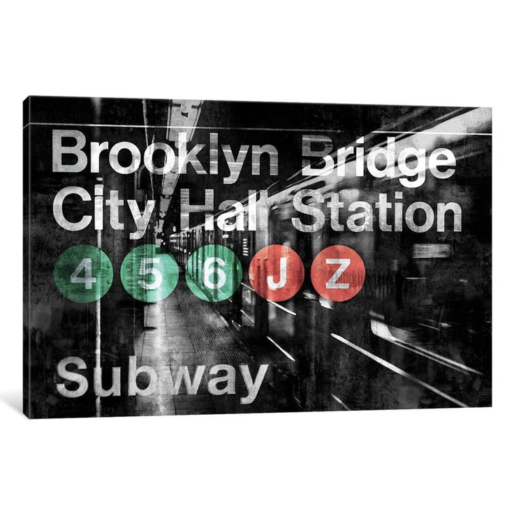 iCanvas 'nyc Subway Station I' by Luke Wilson Canvas Print