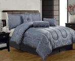 11 Piece King Hansen Blue Jacquard Bed in a Bag Set free ship code: 49SHIP $59.99