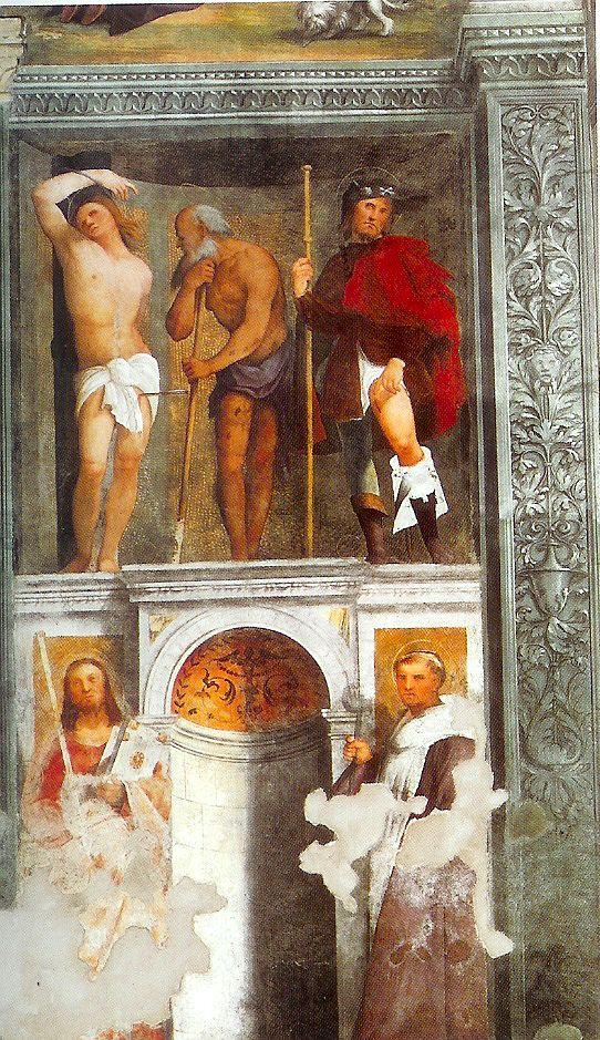 Affresco di Pellegrino da San Daniele nella chiesa di Sant'Antonio Abate a #SanDaniele del Friuli.
