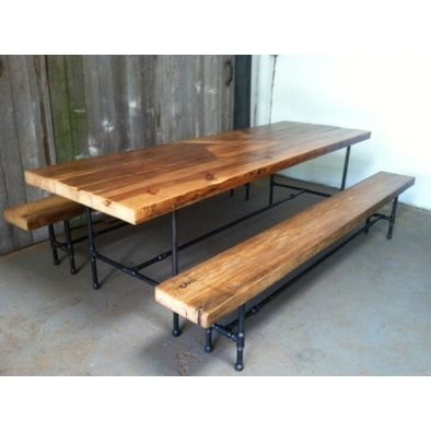 How cool is this? What a fun table and reclained wood and pipe frame. Reclaim Wood Dinning Room table - dining tables - chicago - UrbanWood Goods