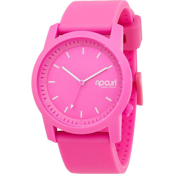 Rip Curl Cambridge Silicone Watch Pink ($92) ❤ liked on Polyvore featuring jewelry, watches, accessories, pink, women, pink watches, analog wrist watch, analog watches, silicone jewelry and silicone wrist watch