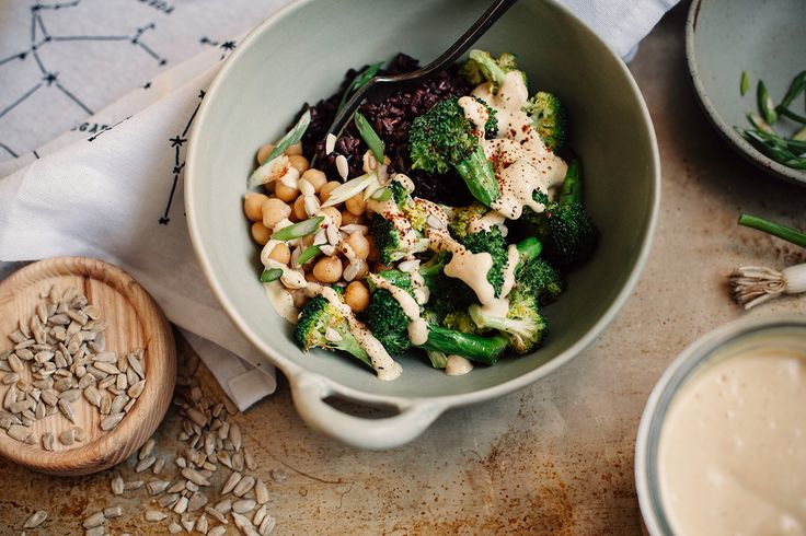 vegan special sauce + a roasted broccoli bowl » The First Mess // healthy vegan recipes for every season