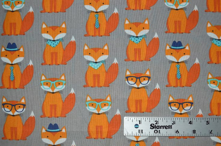 Fox and Houndstooth Fabric, Cotton Fabric, Quilting Fabric, Fabric by the Yard, Orange Fox  Fabric, Fox Fabric, by SWKfabrics on Etsy https://www.etsy.com/listing/505481931/fox-and-houndstooth-fabric-cotton-fabric