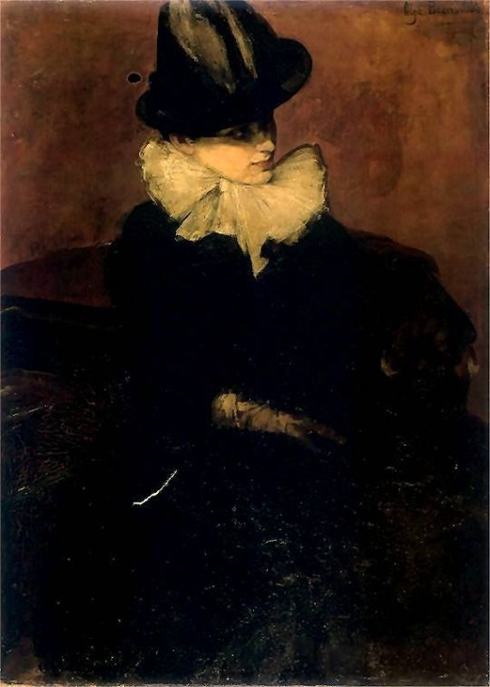 Self Portrait  -  Olga Boznanska 1888