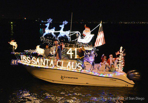 Top Ten Holiday Events to enjoy with kids in Southern California: San Diego Harbor Parade of Lights #trekarooing