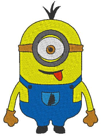 Hey, I found this really awesome Etsy listing at https://www.etsy.com/listing/193577551/one-eye-minion-despicable-me-embroidery