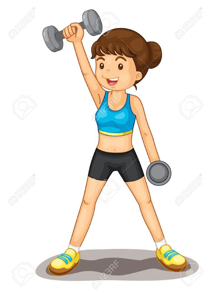 Weight lifting women clipart free