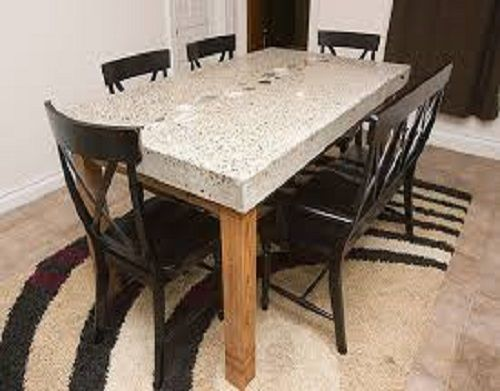 Amazing Granite Dining Table Glossy Modern Design