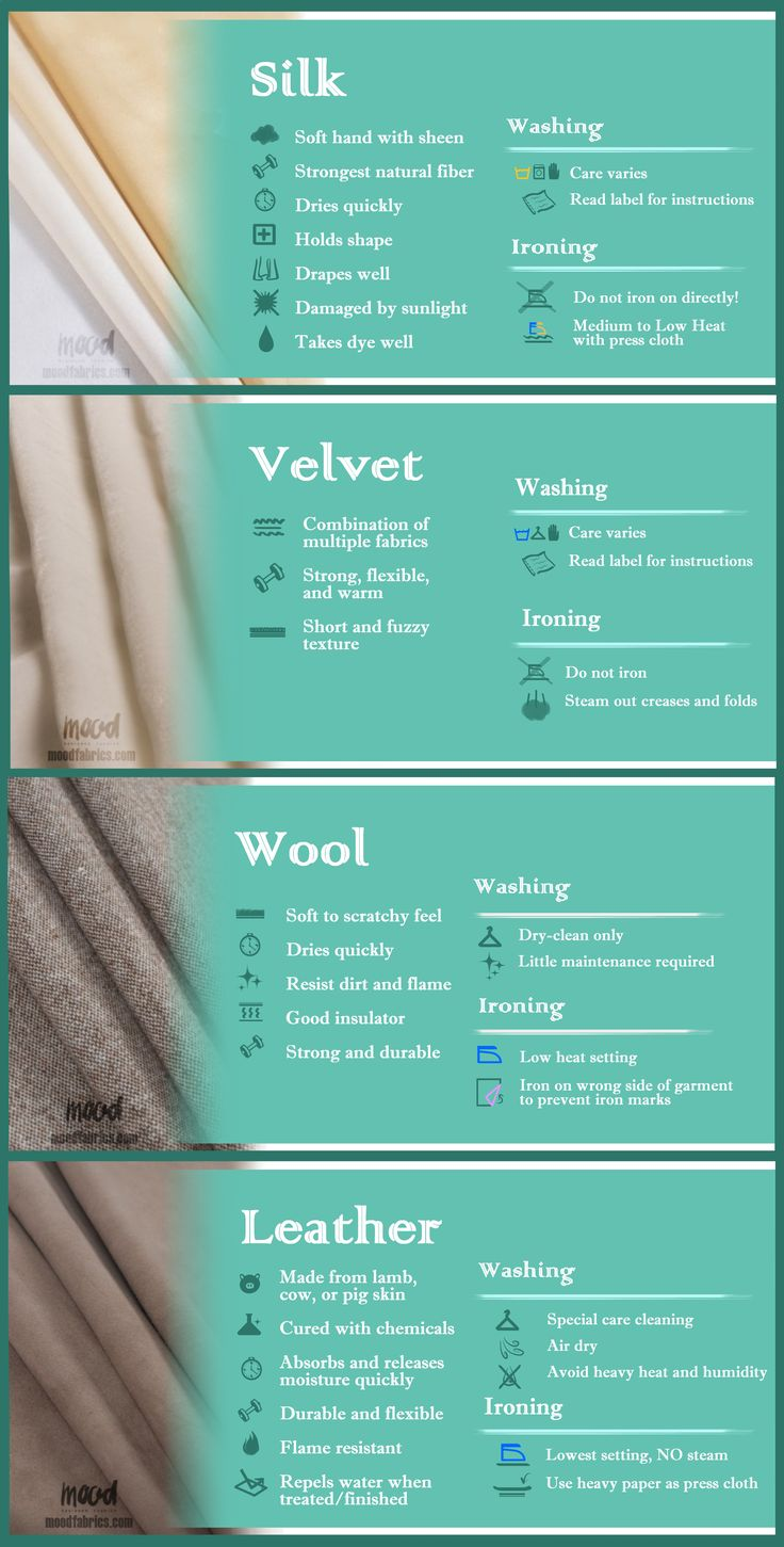 All About Fabric Care: Luxury Fabrics | In this series of guides, we'll give you short and easy lists for your reference that will note qualities of the fabrics, how to wash them (or not wash them), and when it's safe (or not!) to iron a fabric!