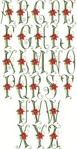 Poinsettia Font