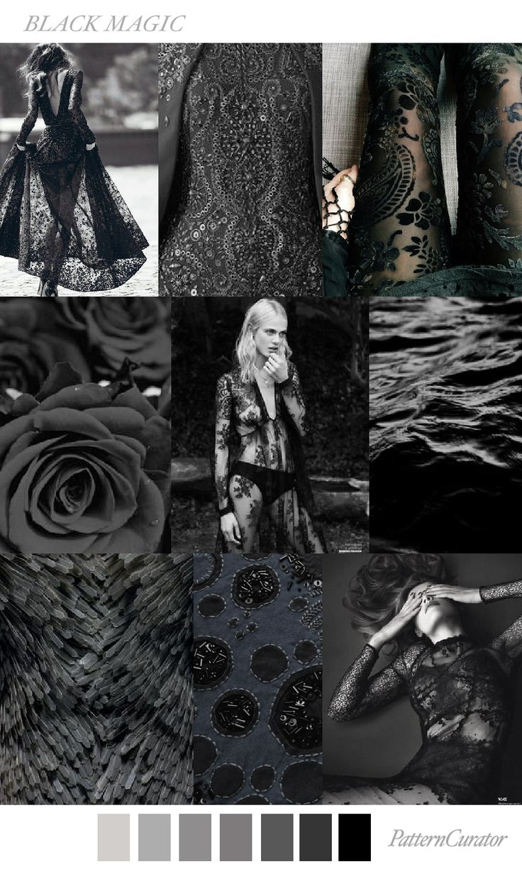 BLACK MAGIC by PatternCurator for Fashion Vignette