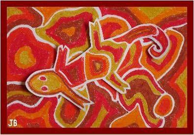 Kameleon - Een leuke tekenles over de kameleon, waarbij je gebruik maakt van oliepastel. Geschikt vanaf groep 4.