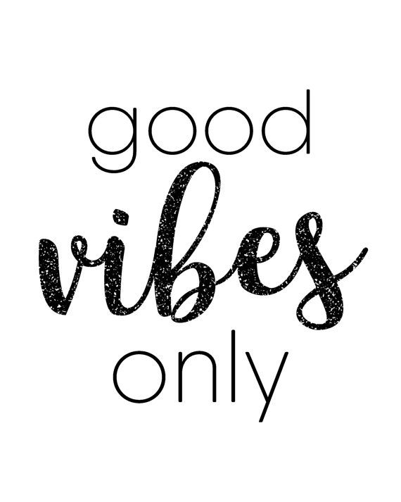 Good Vibes Only, inspirational quote printable wall art printable for girlbosses by BlossomBloomDesign