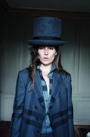 Stella Schnabel wearing a hat by Prudence Millinery for Gold Label Autumn Winter 2014 2015 http://prudencemillinery.com