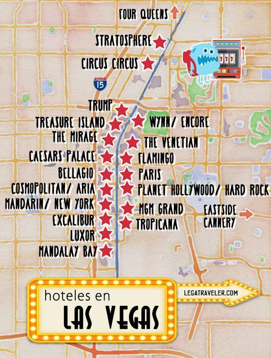 Mapa de Hoteles en Las Vegas