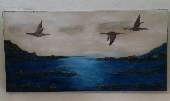 Akryl maleri av Tone Henriksen .