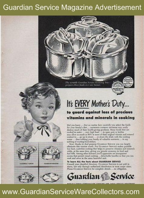Better Homes And Gardens Magazine >> Guardian Service Cookware Preserves Vitamins and Minerals   Guardian Service Advertisements
