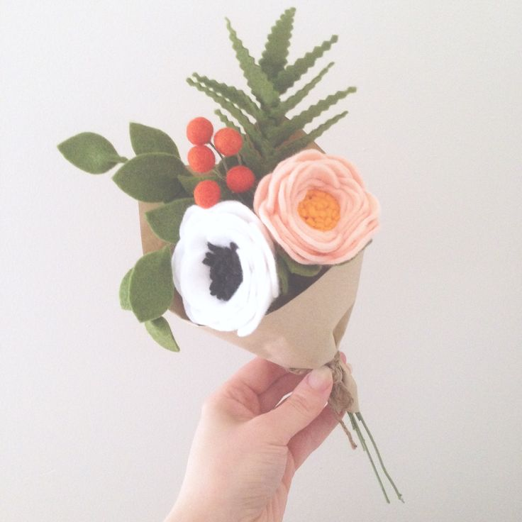 Felt Flowers by Dear May - Rifle Paper co inspired