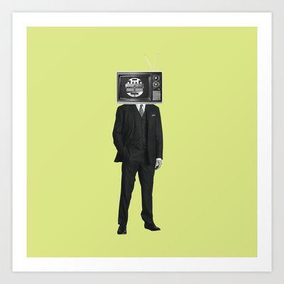 no signal Art Print by Klaff Design - $15.00