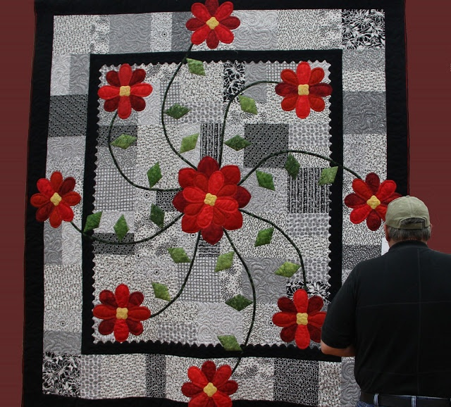 1024 Best Flower and Plants Quilts Images on Pinterest Quilt Art
