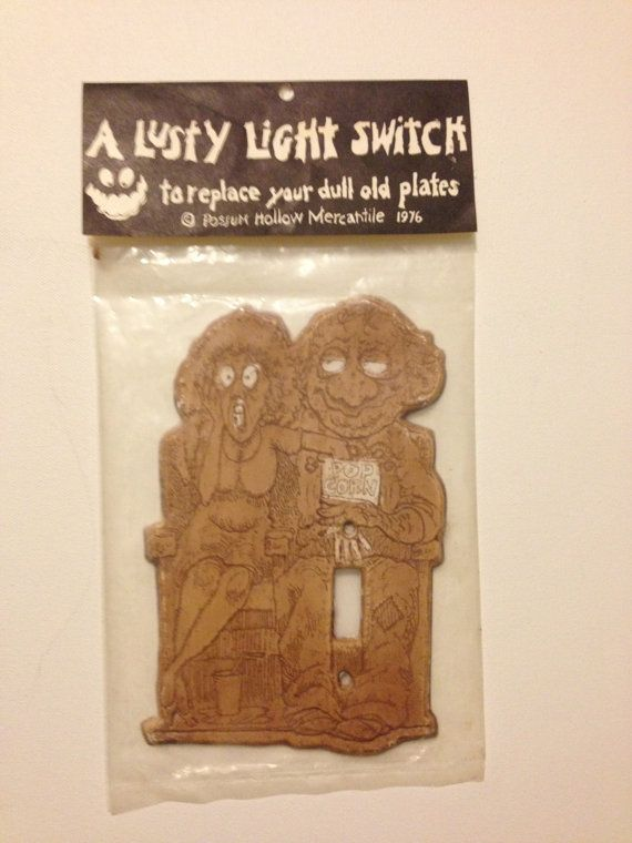 Mature Theme A Lusty Light Switch Cover Possum by TheModPasse, $25.00