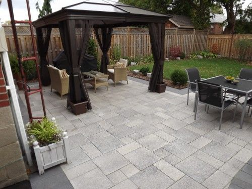 paved patio. I like these patio stones