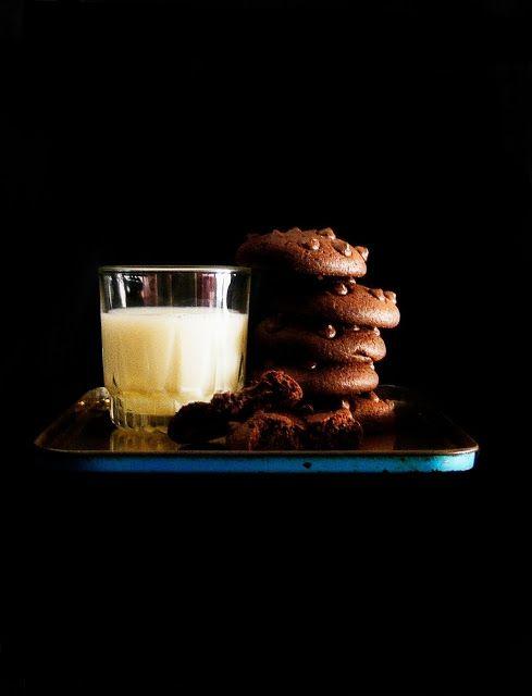 La asaltante de dulces: Receta de galletas chocolate total/ Super chocolate cookies recipe. Delicious!