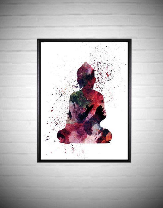 Buddha Printable Buddha Yoga Poster Abstract Buddha by DaniJArts
