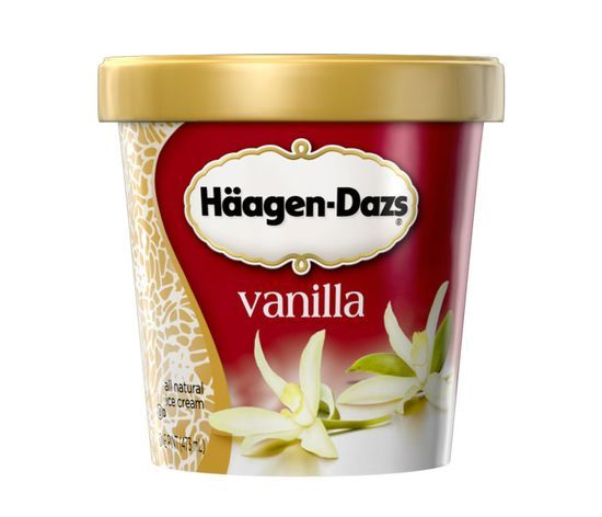 My nutritionist friend Jennifer taught me that if you're going to splurge, do it well. Haagen-Dazs is the densest ice cream with the best quality ingredients.
