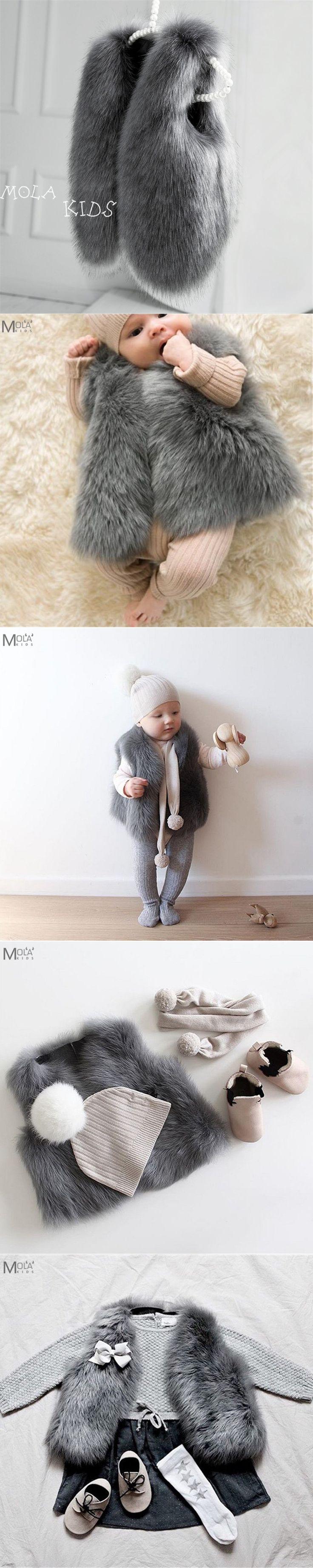 Baby Fur Coat Real Fur Clothes Infant Winter Vest Toddler Boys/Girl WInter Waistcoat Toddler faux Fur Vest Bobo Choses BEBE