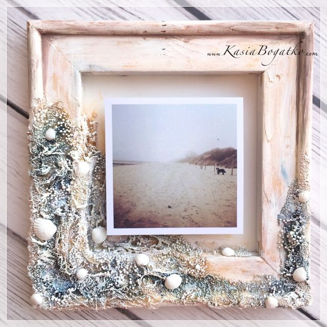Mixed media frame for scrapki-wyzwaniowo.blogspot.com