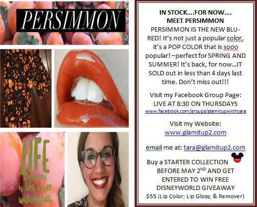 Join LIVE Tues/Thurs @ 8:30pm EST www.facebook.com/groups/glamitupwithtara #Disney #freetrip  #longlastinglips #marriott @disney @marriottHey there! Check out these colors! Check out this GIVEAWAY! GET IT WHILE IT LASTS! Join me LIVE Tuesday or Thursday 8:30pm EST at www.facebook.com/groups/glamitupwithtara #Disney #freetrip #lips #beyourownboss #sevennightstay #sleeps8 #longlastinglips #marriott @disney @disneyparks @marriott