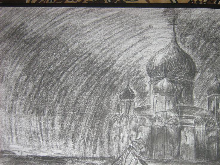 старый рисунок.уголь