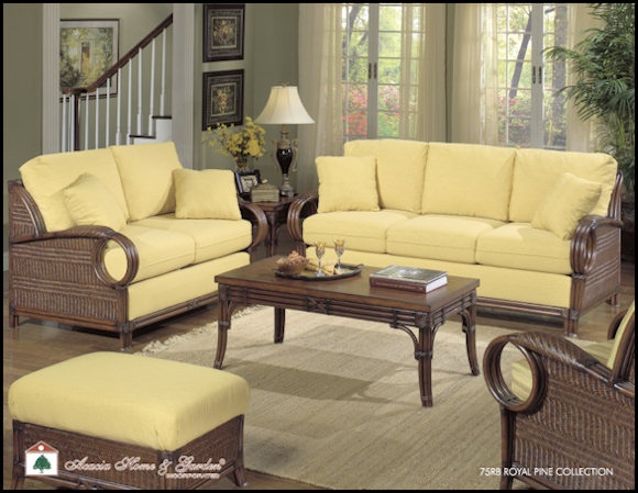 Royal Pine Sofa Set By Acacia Rattan Furniture Wicker Rattan Furniture Co